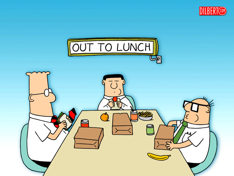 Dilbert out to lunch