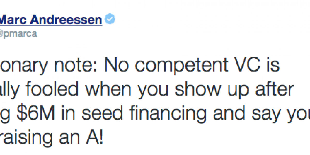 Marc Andreessen and how a VC sees 6M in seed funding