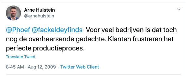 Mijn tweet - met dank aan Jacqueline Fackeldey voor de screenshot.
